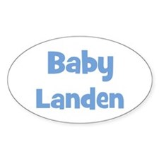 Baby Landen (blue) Oval Decal