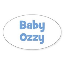 Baby Ozzy (blue) Oval Decal
