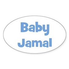 Baby Jamal (blue) Oval Decal