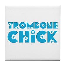 Trombone Chick Tile Coaster