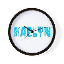 Kaelyn Faded (Blue) Wall Clock