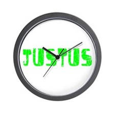 Justus Faded (Green) Wall Clock