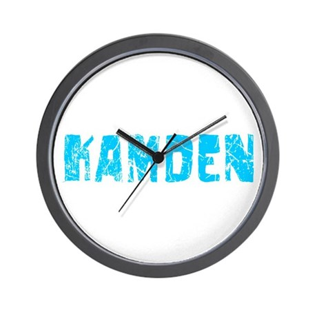 Kamden Faded (Blue) Wall Clock