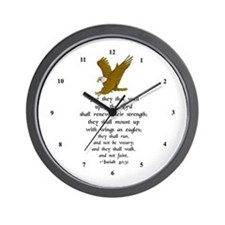"""""""But They That Wait ..."""" Wall Clock"""