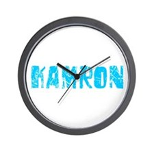 Kamron Faded (Blue) Wall Clock