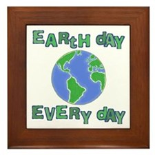 Earth Day Every Day Framed Tile