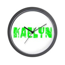 Kaelyn Faded (Green) Wall Clock