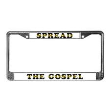 Spread the Gospel License Plate Frame