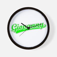 Retro Giovanny (Green) Wall Clock