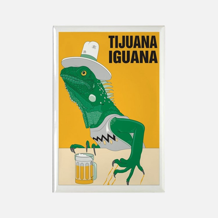 Tijuana Iguana Rectangle Magnet