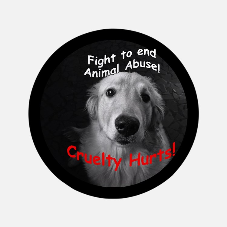 "Cruelty Hurts! 3.5"" Button"