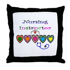 Nursing Instructor Throw Pillow