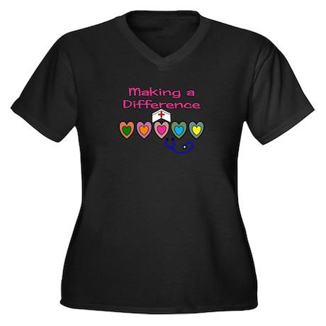 Nursing Instructor Women's Plus Size V-Neck Dark T