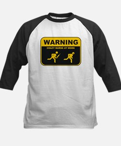 WARNING CRAZY NURSE AT WORK Kids Baseball Jersey