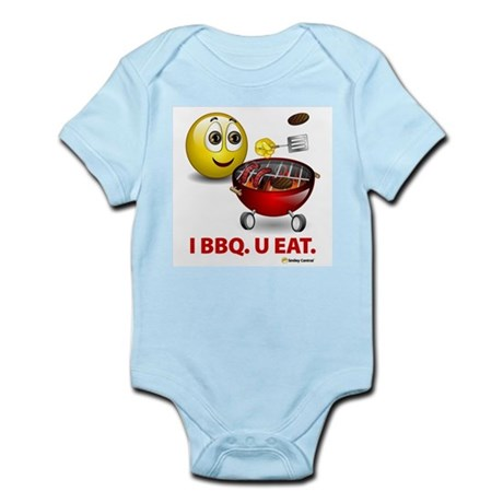 I BBQ. U EAT. Infant Creeper