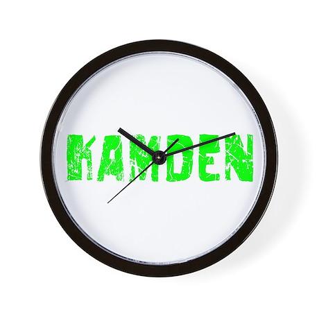 Kamden Faded (Green) Wall Clock