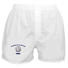 Daddy in training baseball 08 Boxer Shorts