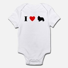 I Heart Shetland Sheepdog Baby Bodysuit