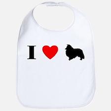 I Heart Shetland Sheepdog Bib