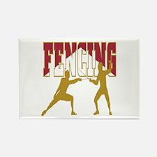 Fencing Logo (Red & Gold) Rectangle Magnet