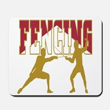 Fencing Logo (Red & Gold) Mousepad