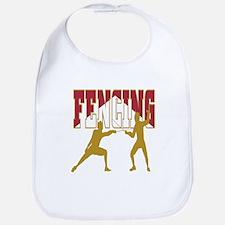 Fencing Logo (Red & Gold) Bib