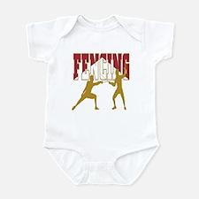 Fencing Logo (Red & Gold) Infant Bodysuit