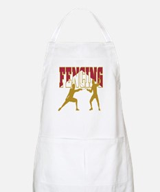 Fencing Logo (Red & Gold) BBQ Apron