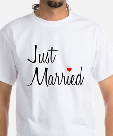 Just Married (Black Script w/ Heart) Shirt