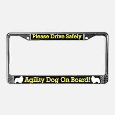 Sheltie Agility Dog License Plate Frame