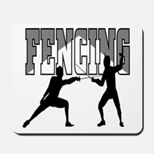 Fencing Logo (Black & Grey) Mousepad
