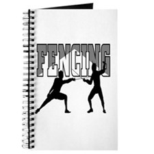 Fencing Logo (Black & Grey) Journal