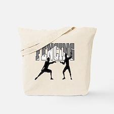 Fencing Logo (Black & Grey) Tote Bag