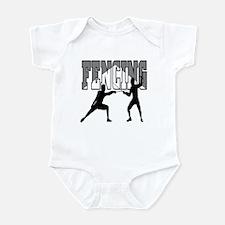Fencing Logo (Black & Grey) Infant Bodysuit