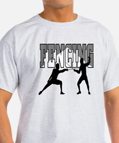 Fencing Logo (Black & Grey) T-Shirt