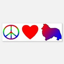 Peace Love Sheltie Bumper Bumper Bumper Sticker