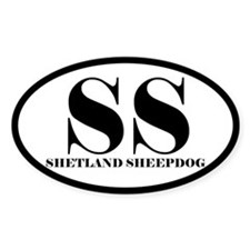 SS Abbreviation Shetland Sheepdog Decal