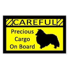 Precious Cargo Shetland Sheepdog Sticker (Rect)