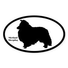 Shetland Sheepdog Silhouette Sticker (Euro Style)