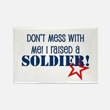 Raised a Soldier Rectangle Magnet