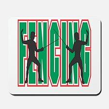 Fencing Logo (Green) Mousepad