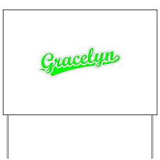 Retro Gracelyn (Green) Yard Sign