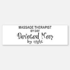 Massage Therapist Devoted Mom Bumper Bumper Bumper Sticker
