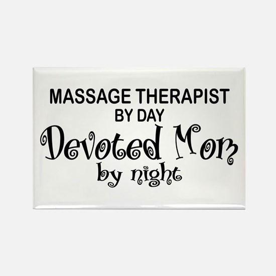Massage Therapist Devoted Mom Rectangle Magnet