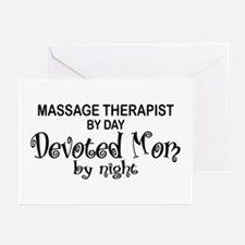 Massage Therapist Devoted Mom Greeting Cards (Pk o