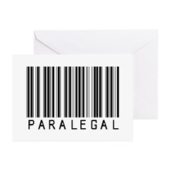 Paramedic Barcode Greeting Cards (Pk of 20)