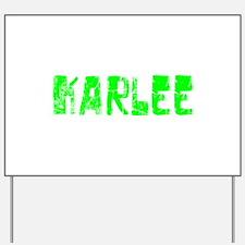 Karlee Faded (Green) Yard Sign