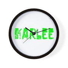 Karlee Faded (Green) Wall Clock