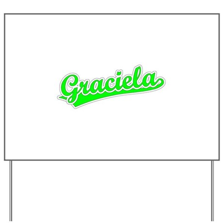 Retro Graciela (Green) Yard Sign