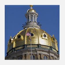Iowa State Capitol Dome Tile Coaster
